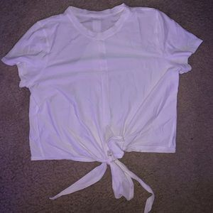white lululemon top
